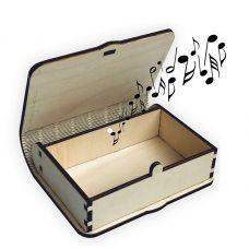"""Магическая музыкальная шкатулка в подарок молодоженам """"Game over"""""""